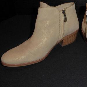 Sam Edelman Shoes - GOLD PETTY CHELSEA BOOTS SAM EDELMAN LEATHER 7